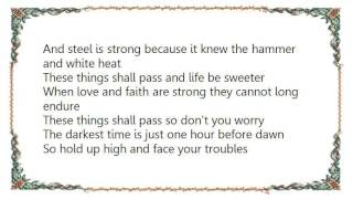 Johnny Cash - These Things Shall Pass Lyrics