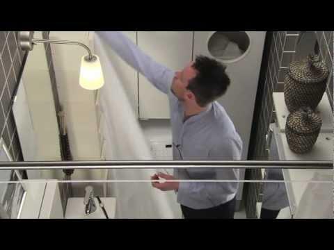 IKEA für kleine Räume: 2,7 m²  Bad mit Raum zum Entspannen