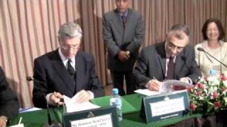Carlos Moreira  Signature du mémorandum d'accord AIM Fondation Hassam II