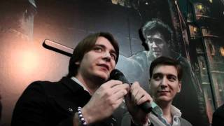 Джеймс и Оливер Фелпс, Harry Potter: intervista ai gemelli Weasley a Lucca Comics & Games