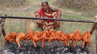 Tandoori Chicken in Village Style My Grandma    Chicken Fry Recipe    Myna Street Food    Food Info - Video Youtube