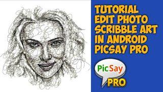 Cara Membuat Foto Coret Coretan (Scribble Art) di Android | Picsay Pro