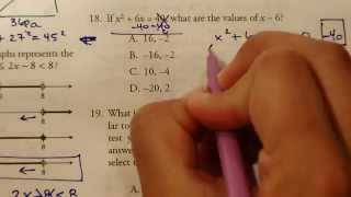 GED Practice Test Problems 17 to 19