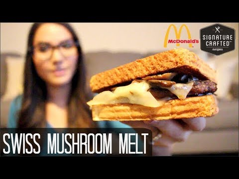McDonald's NEW Swiss Mushroom Melt Signature Crafted Burger - Food Review
