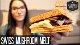 McDonald's NEW Swiss Mushroom Melt Signature Crafted Burger - Food Review - Video Youtube