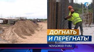 Строительство детсада в Псковском микрорайоне по-прежнему отстает от графика