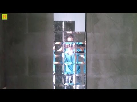 Как клеить зеркало-плитка в ванной комнате