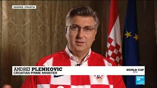 VIDEO: Croatian PM gives his take for the World Cup final