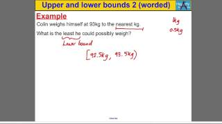 Upper & Lower Bounds 2 (worded Problems)
