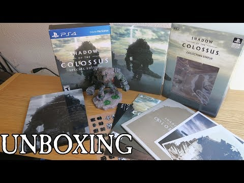 SHADOW OF THE COLOSSUS SPECIAL EDITION COLLECTORS STATUE UNBOXING