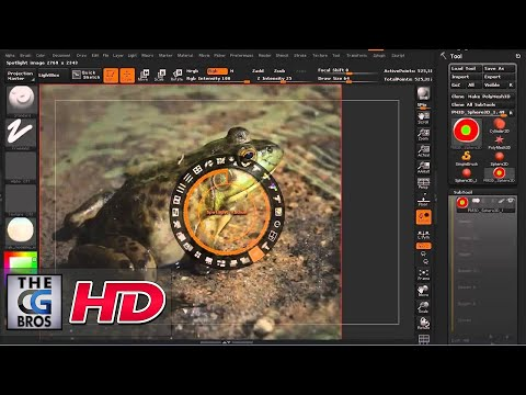 "CGI 3D Modeling Tutorial :""Spotlight in zBrush"" – by 3dmotive"