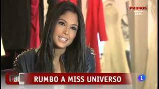 """Patricia Rodriguez, Miss Universe Spain 2013, en el programa """"Corazón"""" de TVE el 20/10/2013."""