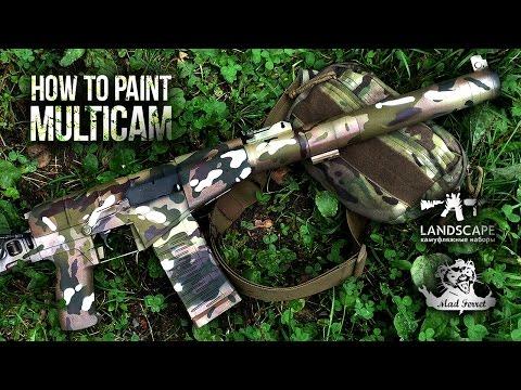 Покраска оружия в Multicam  \\ How to paint Multicam онлайн видео