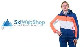 Kilpi, Kally, ski-jas, dames, grote maten, paars-turquoise-wit
