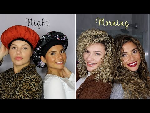OUR CURLY HAIR SLEEP ROUTINES FOR PRESERVING LONG AND SHORT CURLS OVERNIGHT (with my SEESTER! FUNNY)