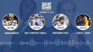 Aaron Rodgers, Dak's contract gamble, Marshawn Lynch, LeBron + Kawhi | UNDISPUTED Audio Podcast