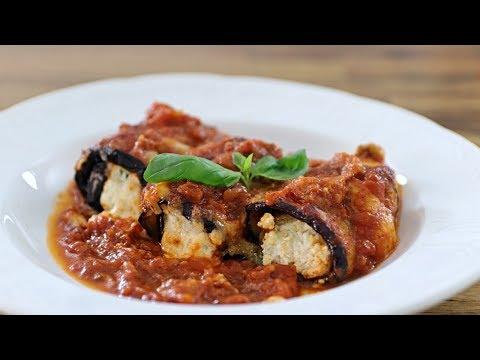 Cheesy Eggplant Roll-Ups   Eggplant Rollatini Recipe