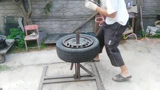 домашний шиномонтаж своими руками (глухих) tire home with their own hands