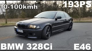 BMW 328ci E46 Coupe 0-100kmh BESCHLEUNIGUNG DRAG TEST REMUS EXHAUST
