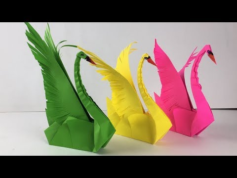 Download How To Make 3d Origami Easy Swan Video 3GP Mp4 FLV HD Mp3