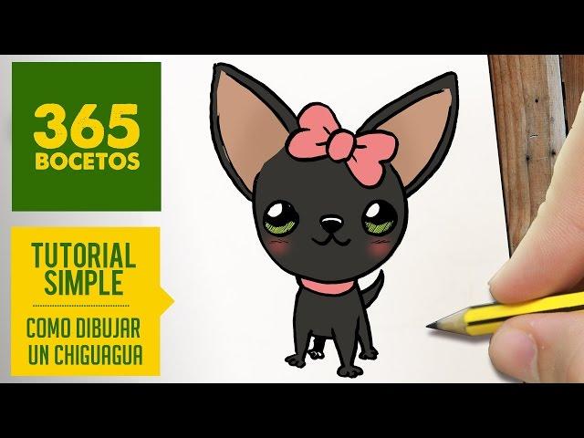 Como Dibujar Un Corazón En 3d Con Lineas: Como Dibujar Un Perro Chihuahua Como Dibujar Un Corazón En
