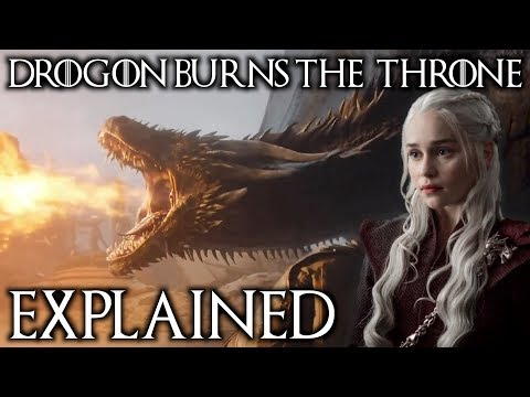 Why Drogon Burned The Iron Throne Explained + Where Did He Take Dany?