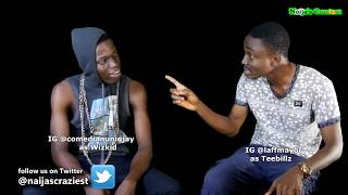 Teebillz Seeks Answers From Wizkid After Fever Video Smooching WIth Tiwa Savage (Parody)