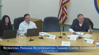 Adult Cannabis Commissioner Jennifer Flanagan addresses Ashland Board of Health http://www.metrowest
