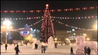 Площадь Горно-Алтайска. Новый год 2015.