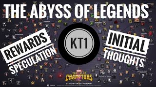 The Abyss Of Legends - Initial Thoughts + Rewards Specualtion + Possible Needed Champions?!
