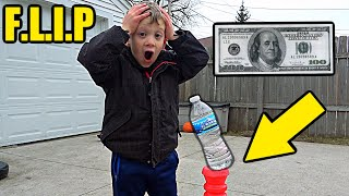 Game of Bottle Flip for $100 (SEMI-FINALS) | Colin Amazing