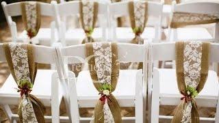 Burlap Wedding Chairs