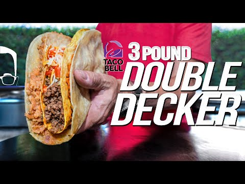 MAKING MY FAVORITE (FORMER) ITEM AT TACO BELL – THE DOUBLE DECKER | SAM THE COOKING GUY 4K
