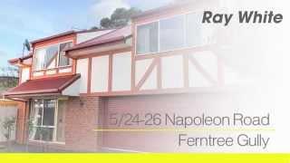 5/24-26 Napoleon Road, Ferntree Gully. Agent: Tim Dixon 0407 065 456