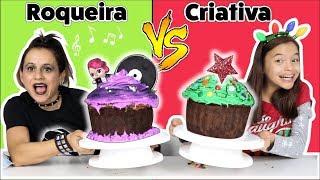 Decorando Cupcake GIGANTE Na Escola!! Roqueira Vs Criativa!!