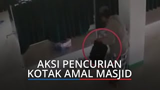 VIRAL Video Aksi Pencurian Kotak Amal di Dharmasraya, Pelaku Pakai Baju Koko, Peci, dan Sarung