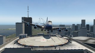 Big Planes Touch And Go On Tower Roof [XP11]