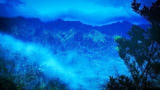 Tibetan Bowls + Epic Thunder & Rain | New Age Music & White Noise for Sleeping or Studying