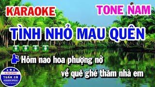 karaoke-tinh-nho-mau-quen-nhac-song-tone-nam-beat-thinh-karaoke-tuan-co