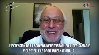 IMO#86 - Le projet d'extension de la souveraineté israélienne en Judée-Samarie viole-t-il le droit i