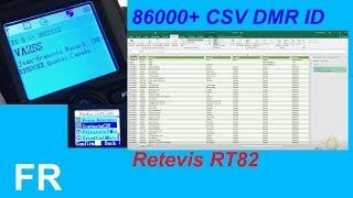 Retevis RT82 CH/MR/VFO Conversion, VFO Scan - Ailunce
