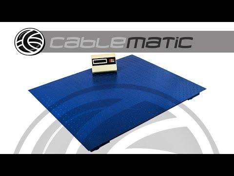 Balanza industrial de plataforma 120x100 cm Báscula de suelo 4000 Kg - distribuido por CABLEMATIC ®