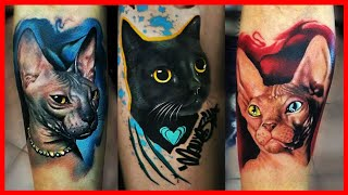 BEST CAT TATTOOS FOR MEN AND WOMEN, BEAUTIFUL CAT TATTOO DESIGN IN TIME LAPSE