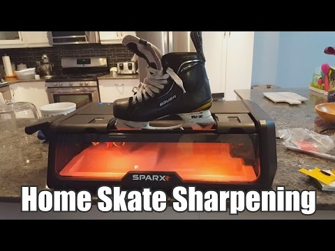 Sharpening skates in my KITCHEN