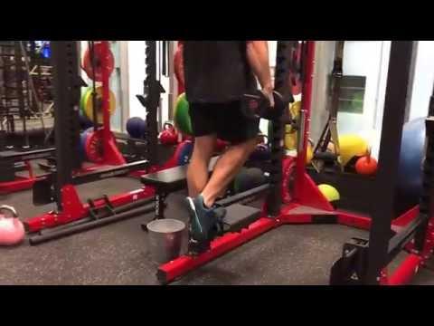 Single leg calf raise (weighted)