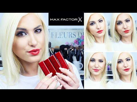 MARILYN MONROE LIPSTICK COLLECTION BY MAX FACTOR  // Swatches + Review ♡ Stefy Puglisevich