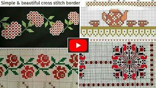New Beautiful Cross Stitch/Dosuti Border Design || Tablecloth Design