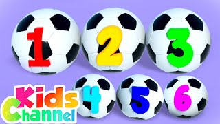 Soccer Number Song for Children | Learning Videos And Songs from Kids Channel