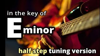 HALF STEP tuning ★ E minor GUITAR BACKING TRACK ★ Melodic Hard Rock