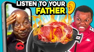 Teens Try To Grill Without Getting Angry At Their Dad On Zoom | LISTEN TO ME! Ep. #2